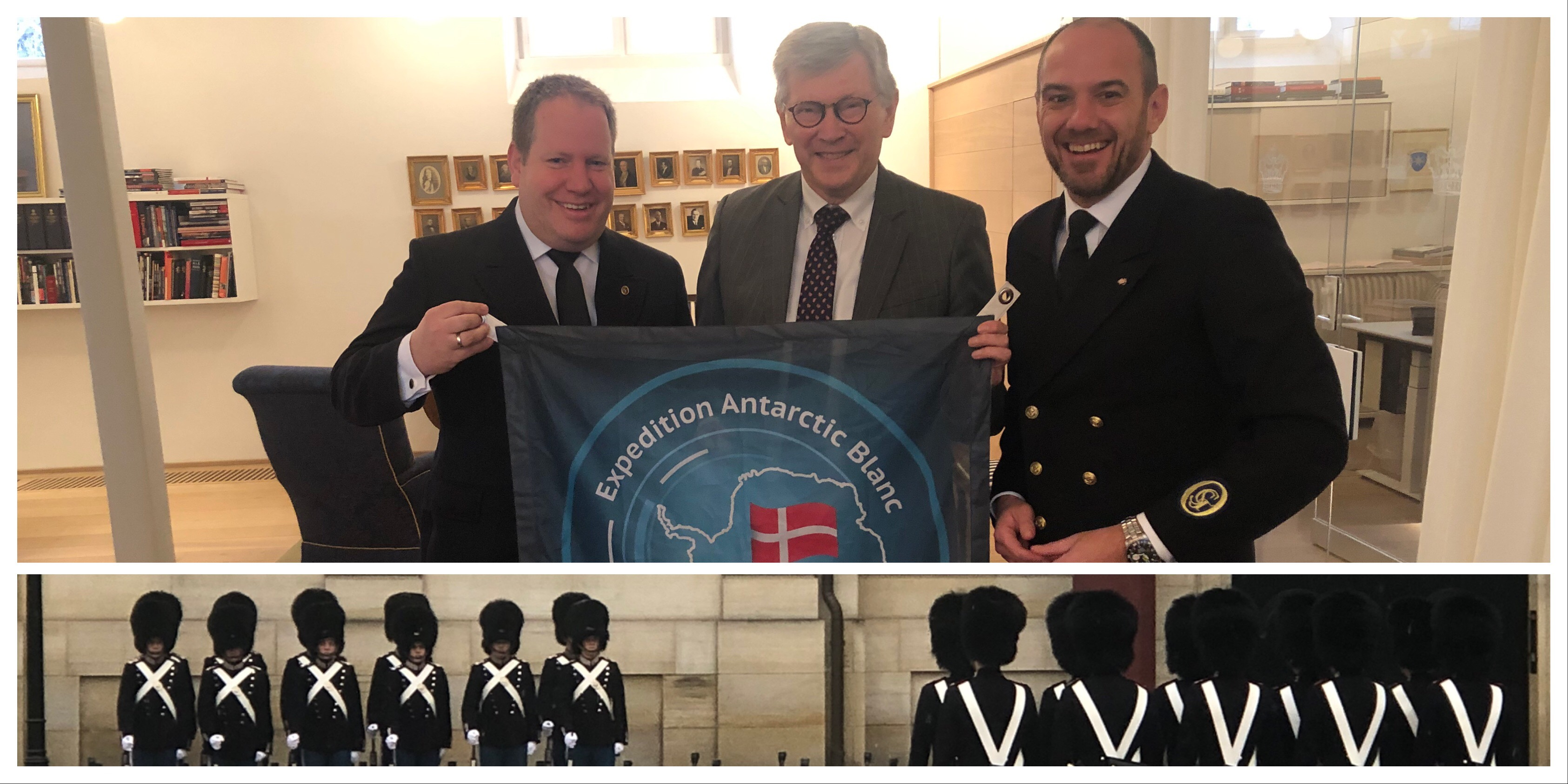 Flag handover to HM The Queen's Private Secretary in the Danish Royal House